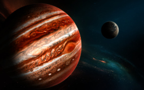 fantasy art, planet, space art, Jupiter, space