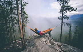 hammocks, relaxing, landscape, Vacations