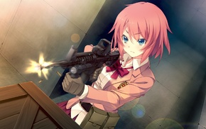 Kanzaki Sayaka, anime, anime girls, Innocent Bullet, girl with guns