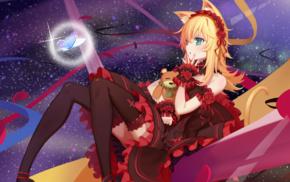 thigh, highs, anime, nekomimi, original characters, anime girls