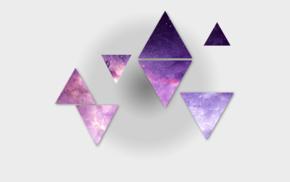 contrast, triangle, galaxy, space, purple
