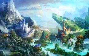 castle, fantasy art