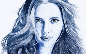 actress, artwork, Scarlett Johansson