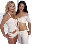 girl, Elisha Cuthbert, Mila Kunis, celebrity, model