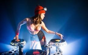DJ, photography, depth of field, turntables, vinyl