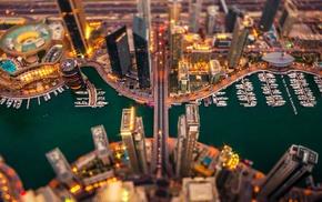 cityscape, Dubai, tilt shift