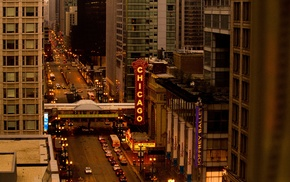 traffic, Chicago, street, city, urban