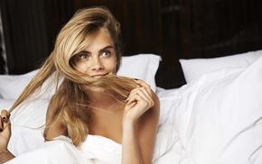 blonde, model, actress, Cara Delevingne, girl, face