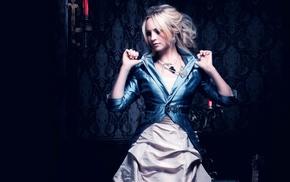 royal, dress, luxury, Candice Accola, blonde, blue clothing