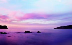 sea, clouds, landscape