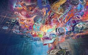 chinese dragon, colorful, fantasy art