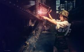 girl, steampunk