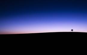 horizon, silhouette