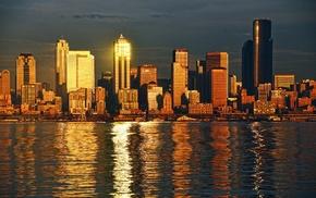 urban, city, sea, Seattle