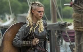 Porunn, blonde, Vikings, Vikings TV series, actress, Gaia Weiss