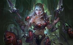 fantasy art, Chenbo, World of Warcraft, Death Knight