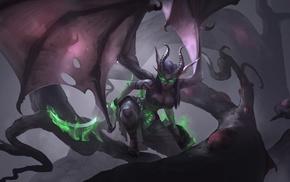 demoness, Demon Hunter, World of Warcraft, fantasy art