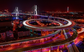 city, Nanpu Bridge, cityscape, China, Shanghai