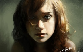 girl, fan art, 2D