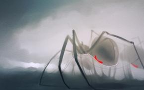 Black Widow, white, CGI, spider