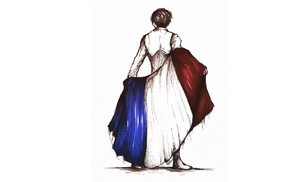France, flag, sketches