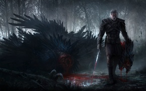video games, The Witcher 3 Wild Hunt, artwork, The Witcher, Geralt of Rivia, fantasy art