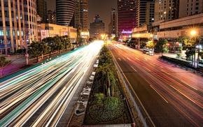 Shanghai, street, road, long exposure, HDR, urban