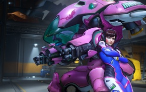 video games, D.Va Overwatch, Blizzard Entertainment, Overwatch