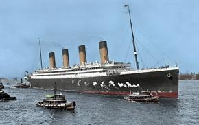 sea, history, dock, smoke, UK, ship