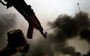 smoke, AK, 47, gun