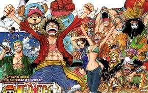 Sanji, Nami, Roronoa Zoro, Brook, Franky, One Piece