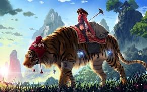 tiger, original characters