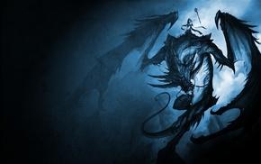 dragon, illustration, fantasy art