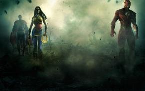 Wonder Woman, Superman, The Flash