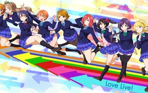 Ayase Eri, Hoshizora Rin, Love Live, Kousaka Honoka, Nishikino Maki, Minami Kotori