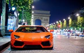 McLaren, Lamborghini, supercars, rain