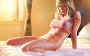 fan art, Sara Jean Underwood, 2D, nipples through clothing