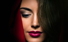 makeup, model, girl