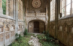 France, Gothic architecture, church, abandoned, architecture