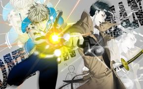 anime, zombie man, One, Punch Man, Genos, Saitama