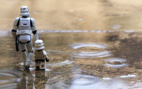 rain, Star Wars, pond, stormtrooper, LEGO