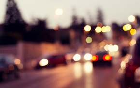 urban, bokeh, blurred