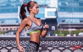 sports bra, working out, Fedor Shmidt, running, Mirgaeva Galinka, girl