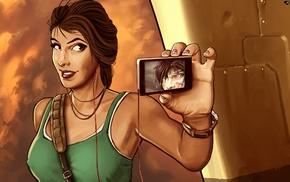 self shots, self portraits, Tomb Raider, Lara Croft