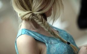 braids, hair, blonde, long hair, model, girl