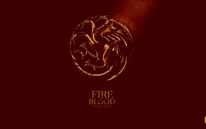 sigils, dragon, Game of Thrones, red, House Targaryen