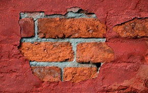 pattern, bricks, concrete, texture