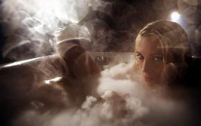 bathtub, model, girl