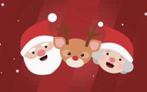 reindeer, minimalism, Christmas, Rudolph the Red, Nosed Reindeer, Santa Claus