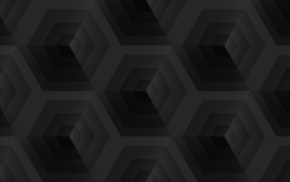 black, simple, cube, square, dark, Tile